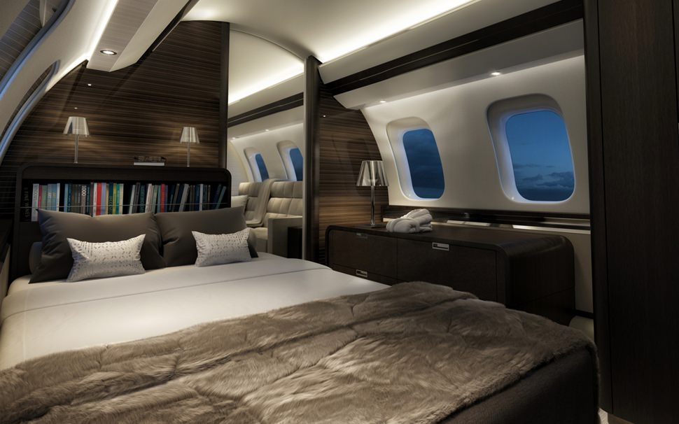 Cabine Bombardier Global 7000.