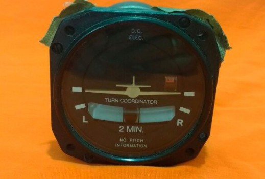 MID - CONTINENT INSTRUMENT CO. TURN COORDINATOR MODEL 1394T100-7Z